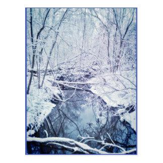 Cartão do rio do inverno