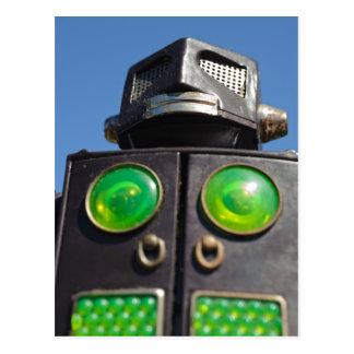 Cartão do robô do brinquedo do vintage