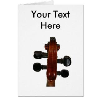 Cartão do rolo do violino