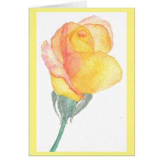Cartão do rosa amarelo