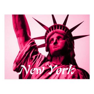 Cartão do rosa da estátua da liberdade de New York