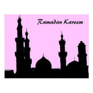 Cartão do rosa da mesquita de Ramadan