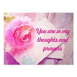 """Cartão do rosa do rosa """"você está em minhas"""