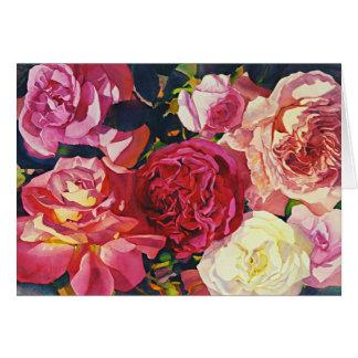 """Cartão Do """"rosas recolhimento! """""""
