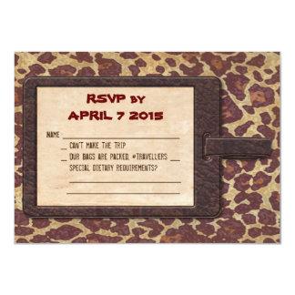 Cartão do safari RSVP
