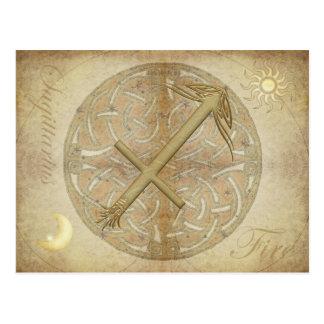 Cartão do Sagitário do sinal do zodíaco
