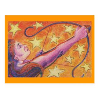 Cartão do Sagitário do zodíaco