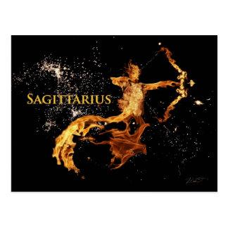 Cartão do Sagitário - símbolos do zodíaco