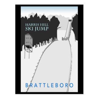 Cartão do salto de esqui do monte de Harris