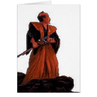 cartão do samurai