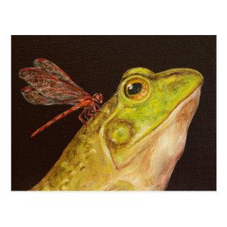 Cartão do sapo e da libélula