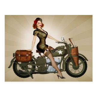 Cartão do sargento Davidson Exército Motocicleta