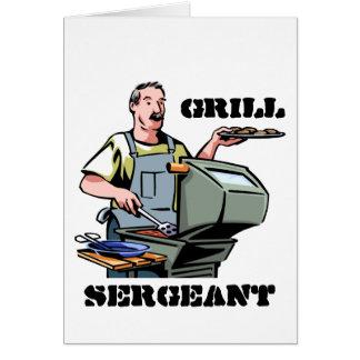 Cartão do sargento dia dos pais da grade