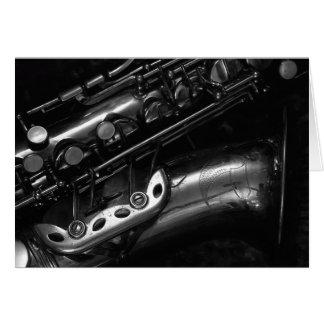 Cartão do saxofone do alto
