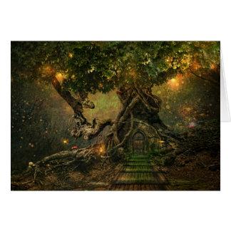 cartão do scape da árvore