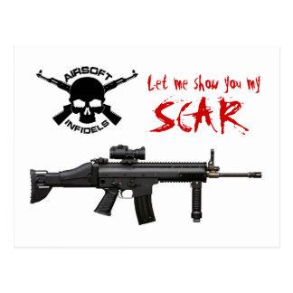 Cartão do SCAR Airsoft do FN