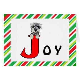 Cartão do Schnauzer da alegria do feriado