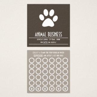 cartão do selo da pata do animal de estimação