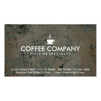 cartão do selo do café cartão de visita