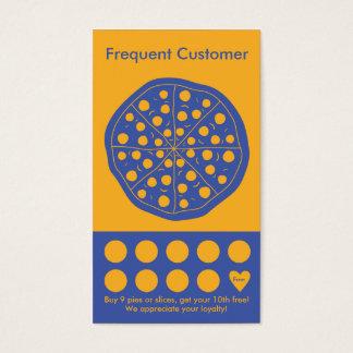 Cartão do selo do cartão de visita da lealdade da