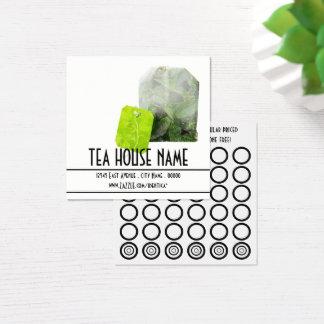 cartão do selo do chá