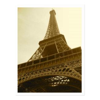 Cartão do Sepia da torre Eiffel
