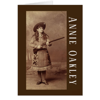 Cartão do Sharpshooter de Annie Oakley