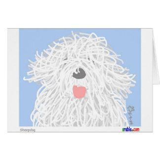 Cartão do Sheepdog