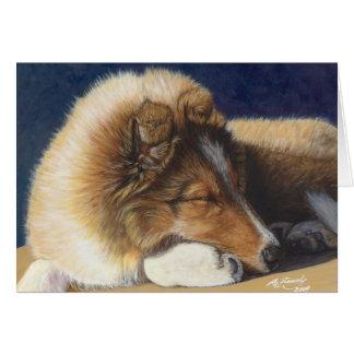 Cartão do Sheepdog de Sheltie Shetland