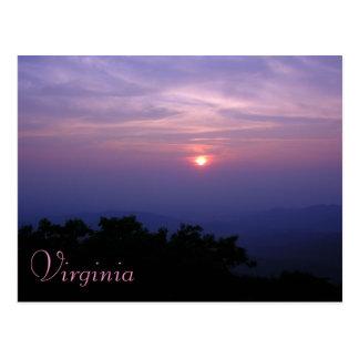 Cartão do Shenandoah Valley de Virgínia