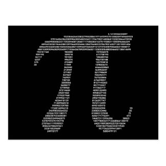 Cartão do símbolo do Pi Cartões Postais