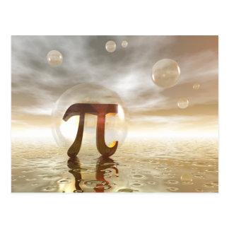 Cartão do símbolo do Pi Cartão Postal