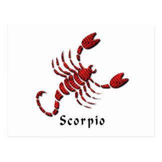 Cartão do sinal da Escorpião