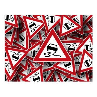 Cartão do sinal de estrada