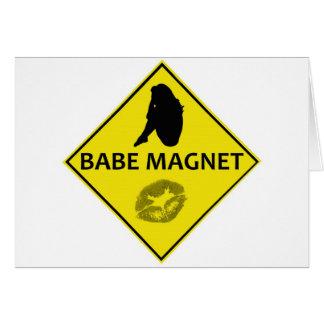 Cartão do sinal de estrada do amarelo do ímã do