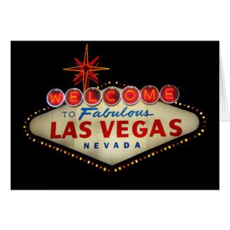 Cartão do sinal de Las Vegas