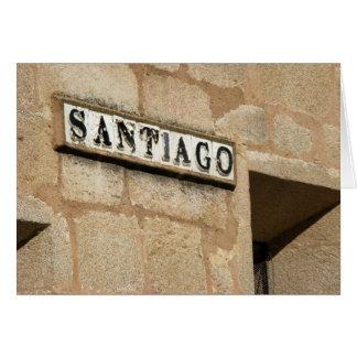 Cartão do sinal de rua de Santiago