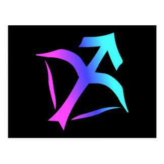 Cartão do sinal do zodíaco do Sagitário
