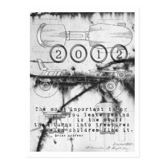Cartão do skate de rolo do ano 2012 novo