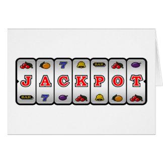 Cartão do slot machine do jackpot (luz)