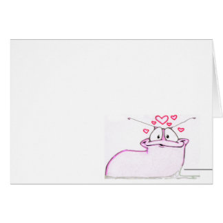 cartão do slug do amor