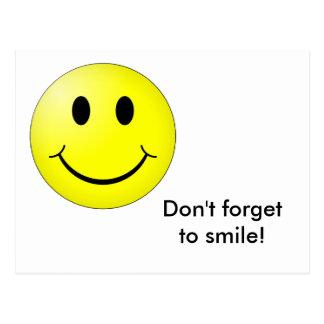 Cartão do smiley!