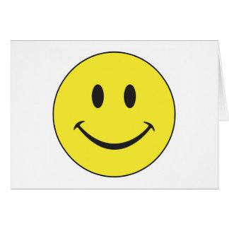 Cartão do smiley face
