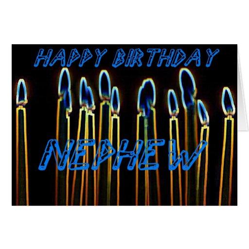 Cartão do sobrinho do feliz aniversario da vela