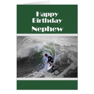 Cartão do sobrinho do feliz aniversario do