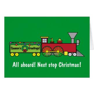 Cartão do sobrinho do trem do Natal