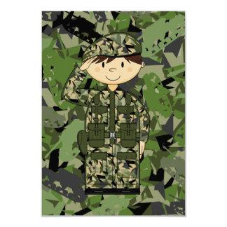Cartão do soldado RSVP do exército britânico Convite 8.89 X 12.7cm
