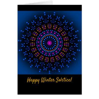 Cartão do solstício de inverno