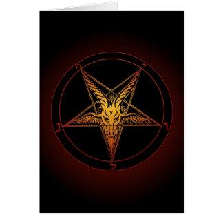 Cartão do solstício de inverno de Baphomet