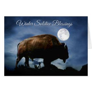 Cartão do solstício de inverno do bisonte de